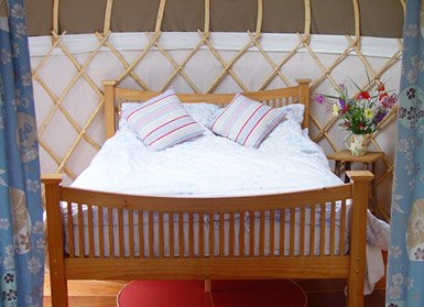 Yurt double bed